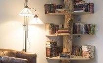 Нестандартный способ разместить книги в интерьере